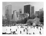 Wollman Skating Rink in Winter - Central Park  Manhattan - New York City  B&W Photograph