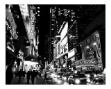 42nd Street Evening - Manhattan  New York City - B&W Photograph