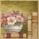 Potted Flowers with Books IV