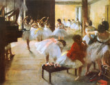 L'école de danse Reproduction d'art par Edgar Degas