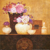 Still Life  Flowers on Antique Chest II