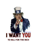Uncle Sam Cheney 'I want youto kill for the rich'