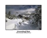 Greenleaf Hut from Greenleaf trail in the White Mountains  New Hampshire  USA