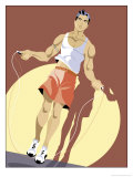 Man Jumping Rope