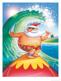 Surfing Santa