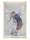 Eamonn De Valera Irish Statesman Depicted as a Wasp Stinging English Premier Lloyd George