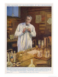 Thomas Alva Edison American Inventor in His Workshop at West Orange New Jersey
