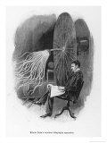 Nikola Tesla Serbian Inventor Seated Beside His Wireless Telegraphy Apparatus