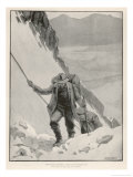 On the Klondike Trail  Gold Prospectors at the Summit of the Notorious Chilkoot Pass