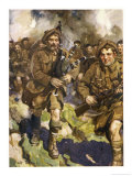 David Simpson Piper of the Black Watch Leads the Charge at Loos  But is Killed Almost at Once