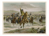 Battle of Jena Murat Leads the French Cavalry to Victory Against the Prussians