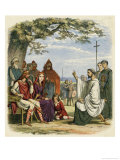 Augustine Preaching Christianity to Ethelbert 1 King of England