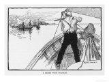 Joshua Slocum Defends His Boat Against Fuegian Pirates