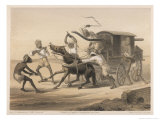 Travelling in an Indian Carriage  Natives Beat the Horse