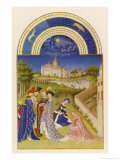 April Courtly Life in the Grounds of the Chateau De Dourdan