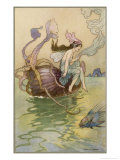 Fairy Riding a Nautilus