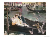 Couple in a Gondola on the Canals of Venice