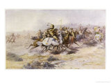 Custer and Cavalry in Action