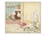 And the Dish Ran Away with the Spoon Giclée par Randolph Caldecott
