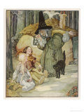 The Witch and Her Cat Find Hansel and Grethel