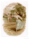 Graceful Backhand in a Victorian Garden