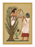 As Loving Mother-Goddess Mut Pours Water from the Sycamore Tree Over a Deceased Person and His Soul