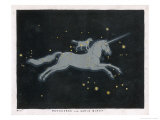 The Constellation of Monoceros  a Unicorn  and Canis Minor  a Small Dog