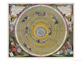 Earth is Depicted at the Centre of the Cosmos Circled by the Seven Planets Known to Him