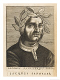 "Jacopo Sannazaro Italian Writer Known for His ""Arcadia"" Derived from Virgil"