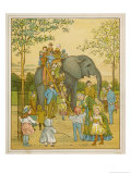 Elephant Rides for Children at Regent's Park Zoo: The Passengers Mount by Ladder