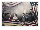 Abraham Lincoln President of the United States is Assassinated at the Theatre by John Wilkes Booth