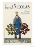 Poster for the Nicolas Chain of Wine Shops France