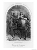 Eleanor of Aquitaine (Or of Guyenne) Rides East with Her Husband Louis VII
