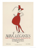 Poster Advertising &quot;Aux Elegantes&quot; in London&#39;s Old Brompton Road