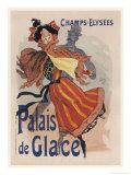 Poster for the Fashionable Palais De Glace in the Champs Elysees Paris Giclée premium par Jules Chéret