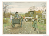 At a Country Level Crossing the Engine Driver Looks Out