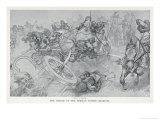 Persian War Chariots Charge Against Alexander the Great