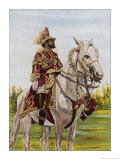 Haile Selassie Emperor of Ethiopia on His Horse