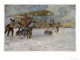 French Spad on Airfield