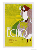 Poster for the Echo  Chicago&#39;s Humorous and Artistic Fortnightly