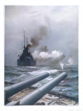 In a Naval Engagement off Heligoland the &quot;Lion&quot; Sinks a German Cruiser