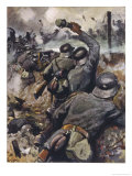 German Infantry Defend Their Trench Against an Enemy Attack
