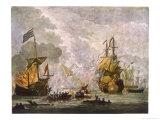 "Capt Kempthorn in ""Mary Rose"" Defeats Seven Algerian Men-Of- War"