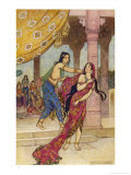 Draupadi the Polyandrous Wife of the Katava Brothers is Attacked by Prince Duhsasana