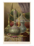 Group of Various Items from India Principally Enamelled Including Vases and Boxes