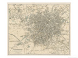 Map of Manchester and Its Environs