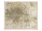 Carte de Londres et de sa banlieue Giclée premium par J. Bartholomew