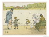 The Park Keeper at the Round Pond in Kensington Gardens Explains How Ducks Work to a Small Boy
