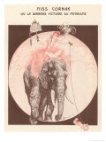 Circus Elephant and His Trainer Miss Cornak
