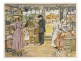 Rural General Store with Various Customers